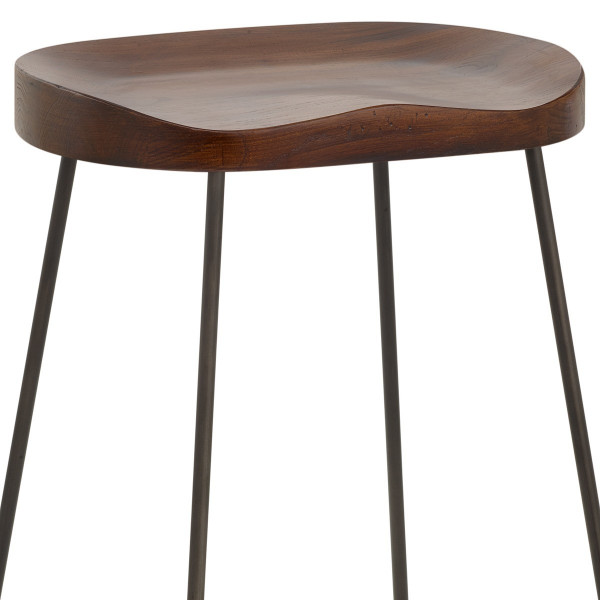 Bloc Stool Dark Wood